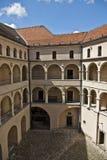 Courtyard castle arcades pieskowa skala Stock Images