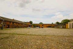 Courtyard of the castle in Buch Stock Images