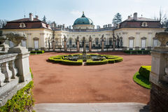 Courtyard of the castle Buchlovice Royalty Free Stock Photos