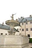 The courtyard of castle Cerveny Kamen in Slovakia Stock Photos