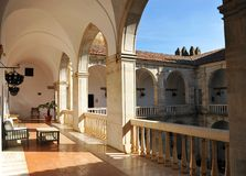 Courtyard of the Castle of the Dukes of Feria, Zafra, province of Badajoz, Spain Stock Image