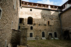 Courtyard in castle of Herman Royalty Free Stock Photography