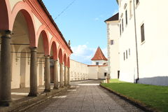 Courtyard of castle in Jindrichuv Hradec Royalty Free Stock Image