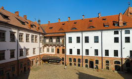 Courtyard of the castle royalty free stock image