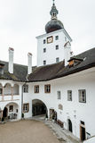 Courtyard of Castle Orth in Austria Stock Photos