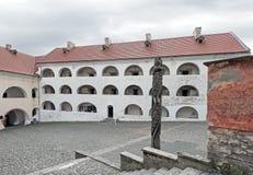 An courtyard of castle Palanok, Mukachevo, Ukraine Stock Photos