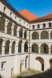 Courtyard in Castle Pieskowa Skala, Poland Stock Images
