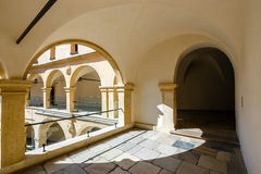 Courtyard in Castle Pieskowa Skala, Poland Royalty Free Stock Images