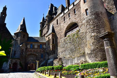 Courtyard at Castle Reichsburg Royalty Free Stock Image