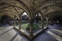 Courtyard of the cathedral Santa Maria Novella Royalty Free Stock Photo