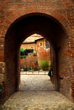 Courtyard of Cathedral of Ste-Cecile in Albi Franc. Courtyard of Cathedral of Ste-Cecile in town of Albi in south France Royalty Free Stock Photo