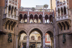 the courtyard of the Catholic church  in Istanbul Stock Images