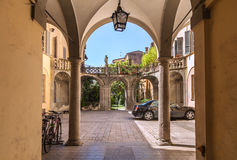 The courtyard in the centre of Turin Stock Photo