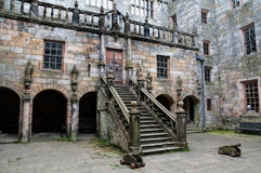 Courtyard of Chillingham Castle Royalty Free Stock Photography
