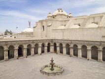 Courtyard of Church in Peru Stock Images