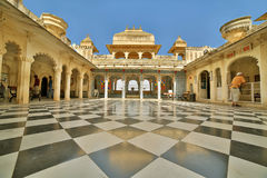 Courtyard at City Palace, Udaipur Stock Image