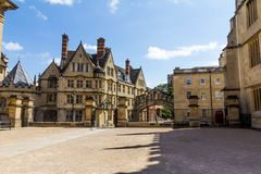 Clarendon Building in Oxford in a beautiful summer day, Oxfordshire, England, United Kingdom. In the courtyard of Clarendon Building in Oxford in a beautiful royalty free stock photos