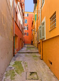 Courtyard among Classic Mediterranean Buildings in Nice Royalty Free Stock Images