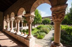 Courtyard of the Cloisters. Garden of the Cloisters Museum in New York Royalty Free Stock Photos
