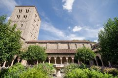 Courtyard of the Cloisters. Garden of the Cloisters Museum in New York Stock Photo