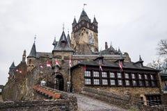 Cochem Imperial castle The Reichsburg Cochem. Courtyard of the Cochem Imperial castle The Reichsburg Cochem royalty free stock photography