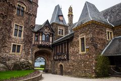 Cochem Imperial castle The Reichsburg Cochem Royalty Free Stock Images