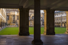 Courtyard of a college in Cambridge Stock Photography