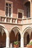 Courtyard  of Collegium Maius,   Krakow, Poland. KRAKOW, POLAND - JUNE 26, 2016 :Courtyard  of Collegium Maius, Old Town. It  is the Jagiellonian University`s Royalty Free Stock Photo