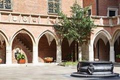 Courtyard  of Collegium Maius,   Krakow, Poland. KRAKOW, POLAND - JUNE 26, 2016 :Courtyard  of Collegium Maius, Old Town. It  is the Jagiellonian University`s Royalty Free Stock Photos