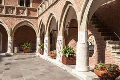 Courtyard  of Collegium Maius,   Krakow, Poland. Courtyard  of Collegium Maius, Old Town,  Krakow, Poland Stock Photos