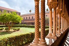 The courtyard with columns Stock Images