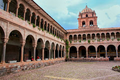 Courtyard of Convent of Santo Domingo in Koricancha complex, Cus Royalty Free Stock Photography