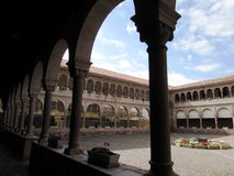 Courtyard at Convento De Santo Domingo Royalty Free Stock Photography