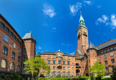 Courtyard of Copenhagen City Hall Stock Images