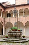 Courtyard in Corinaldo, Marche, Italy Royalty Free Stock Images