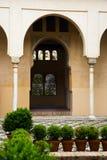 Courtyard of   Dar al-Horra Palace.  Granada Royalty Free Stock Photography