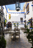 Courtyard decorated with flowers, Cordoba, Spain royalty free stock photography