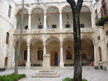 Courtyard design in Aleppo in Syria Royalty Free Stock Image