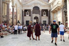 Courtyard in the Diocletian`s Palace, Split, Croatia Stock Photography