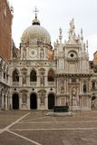 Courtyard of the Doges Palace, Venice. A view of the courtyard inside the Doges palace in Venice Stock Photography