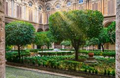 Courtyard in the Doria Pamphilj Gallery in Rome, Italy. royalty free stock photos