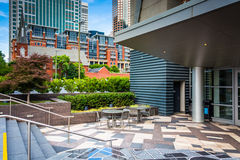 Courtyard in downtown Charlotte, North Carolina. Royalty Free Stock Photos