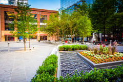 Courtyard in downtown Charlotte, North Carolina. Stock Image