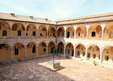 Courtyard of Duomo of Assisi Stock Photography