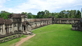 Courtyard & entrance of Angkor Wat Temple Stock Photography