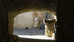 Courtyard entrance of the National Museum of Cerveteri Stock Photos