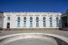Courtyard and exterior / facade of Mohihosa, Emir`s palace in Bukhara, Uzbekistan Royalty Free Stock Image
