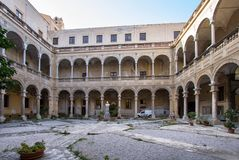 Courtyard of Palazzo Reale in Palermo, italy. Courtyard of famous Palazzo Reale in Palermo, Sicily island, Italy Stock Photography
