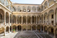 Courtyard of Palazzo Reale in Palermo, italy. Courtyard of famous Palazzo Reale in Palermo, Sicily island, Italy Royalty Free Stock Images