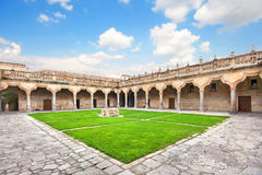 Courtyard of famous University of Salamanca, Castilla Leon, Spain Stock Images